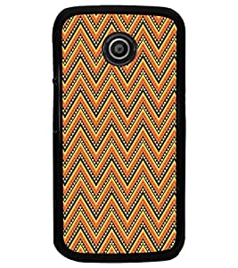 PrintDhaba Pattern D-5207 Back Case Cover for MOTOROLA MOTO E (Multi-Coloured)