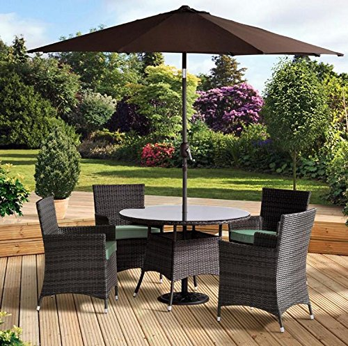 Awesome Best Price Pagoda Sorrento Rattan 4 Seater Table Chair Set Gmtry Best Dining Table And Chair Ideas Images Gmtryco