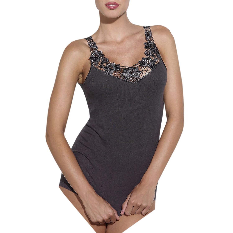 Ott-tricot Damen Hemdchen Unterwäsche Achselhemd mit Spitze 100% gekämmte BW in 9 Größen 38 – 54 günstig kaufen