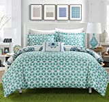 Chic-Home-8-Piece-Barcelona-Printed-Medallion-Reversible-Geometric-Backing-Bed-in-a-Bag-Comforter-Set-with-Sheet-FullQueen-Green