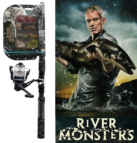 River Monsters Spinning Combo with Monster Tackle Kit
