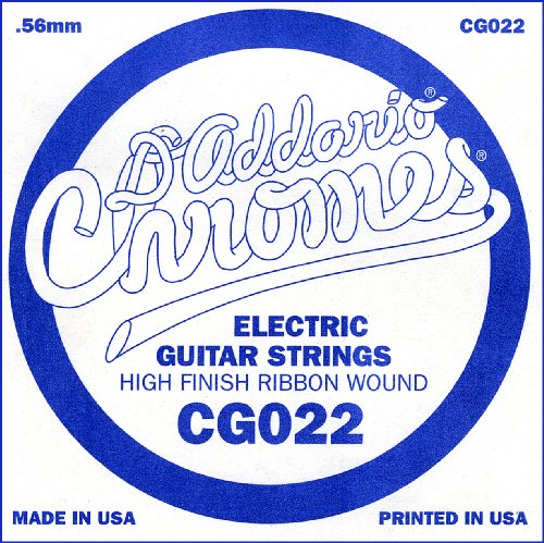 D'Addario Cg022 Flat Wound Electric Guitar Single String, .022