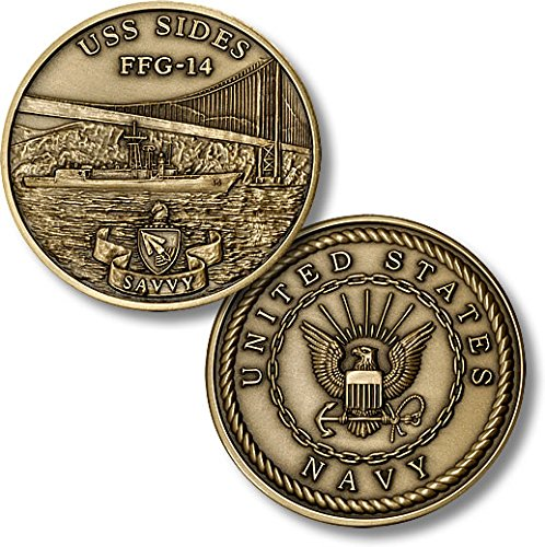 USS Sides (FFG-14) Challenge Coin - 1