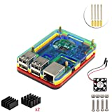 5 layers case with fan for Raspberry Pi 3 Model B (colorful) (Color: colorful)