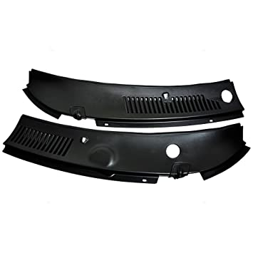 IMPROVED 2-Piece Windshield Wiper Cowl Vent Grille Panel