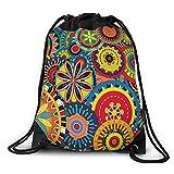 FUNKYLICIOUS Drawstring Polyester Techno Flora Design (Multicolour)