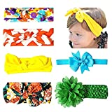 6-8 PCS Baby Headbands Turban Knotted - Girl's Hairbands bling bows for Newborn, Toddler and Childrens (Color: Style B2, Tamaño: One Size)