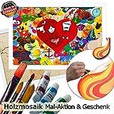 Holzmosaik Hochzeitspuzzle - PORTOFREI inkl. Hochzeitsbuch gratis - kreative Hochzeitsspiele