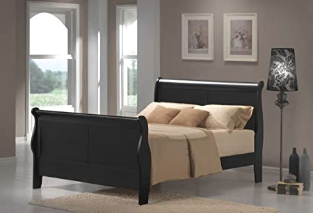 Black Sleigh Queen Bed