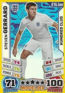 Match Attax England World Cup 2014 Steven Gerrard 100 Hundred Club by Topps