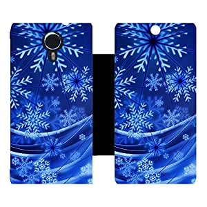 Skintice Designer Flip Cover with hi-res printed Vinyl sticker wrap-around for Micromax Canvas Xpress 2 E313