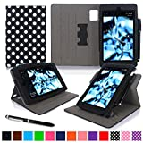 roocase Kindle Fire HD 7 2014 Case, new Kindle Fire HD 7 Dual View Folio Case with Sleep / Wake Smart Cover with Multi-Viewing Stand for All-New 2014 Fire HD 7 Tablet (4th Generation), Polkadot Black