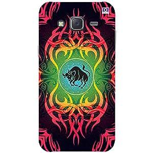 Pink & Black Ox Design - Mobile Back Case Cover For Samsung Galaxy J5 (2015)
