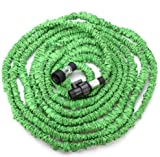 Worth Garden Hose, 75Ft, Heavy Duty Expanding Water Coil Best Flexible Expandable Retractable Collapsible Shrinking Hoses Strongest Lightweight (Green)