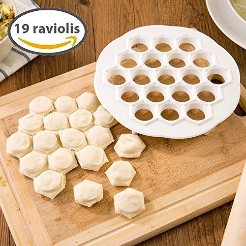 [Nouveauté 2016] Silley® Cook ★ Plaque à ravioli + livret de recettes - Moule 19 ravioles - machine à fabriquer raviolis, petits fours, feuilletés, mini-chaussons, raviolis chinois (Jiao Ze), mini pizzas, boulettes etc.