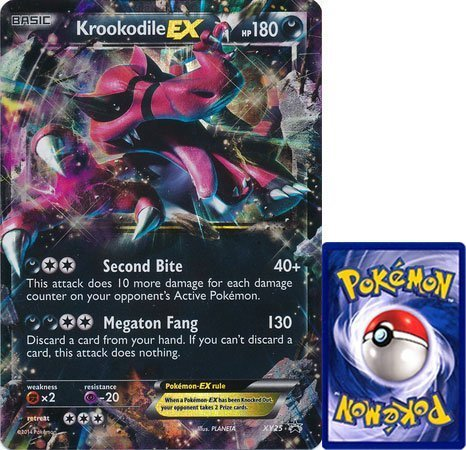 Krookodile EX Jumbo Oversized Card #XY-25 Pokemon Card (Rare/Holo-Foil/Promo) From Bo