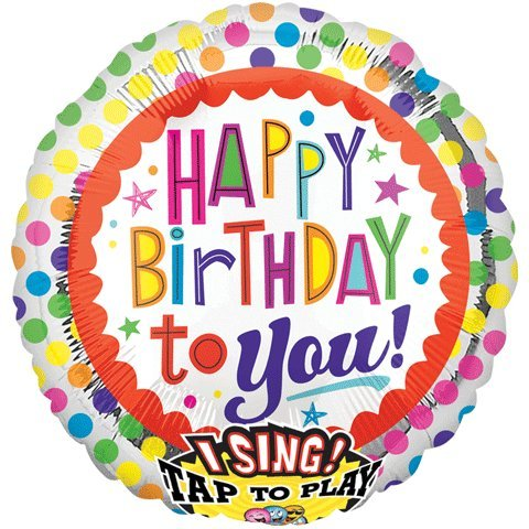 Anagram International 2686901 Happy Birthday To You Dots S-A-T Balloon, 28""