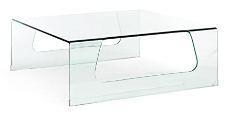 Zuo Campaign Coffee Table, Clear Glass