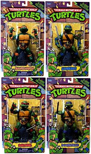 Teenage Mutant Ninja Turtles Set of 4 Classics Retro Action Figures [Leonardo, Donatello, Raphael & Michelangelo]