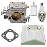 Trustsheer Carburetor with Air Filter Fuel Filter fit Husqvarna 61 266 268 272 272 XP Chainsaw Carb