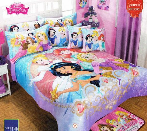 Discover Bargain Disney Princess Magic Comforter Bedspread Sheet Set Full/Mat 9PC Girl Jasmine Snow ...