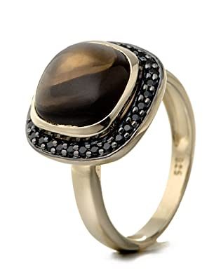 Silvancé - Women's Ring - 925 Sterling Silver - Genuine Smoky Topaz - R8965SM