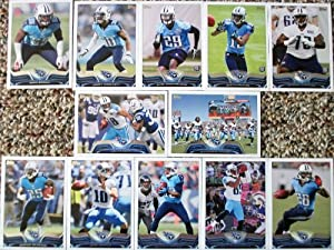 2013 Topps Football Tennessee Titans Team Set In a Protective Case - 12 cards including Johnson, Brown, Locker, Washington, Britt, Warmack RC, Wright, and Wreh-Wilson RC,Hunter RC, McCourty, Reynaud, and a Team Card.