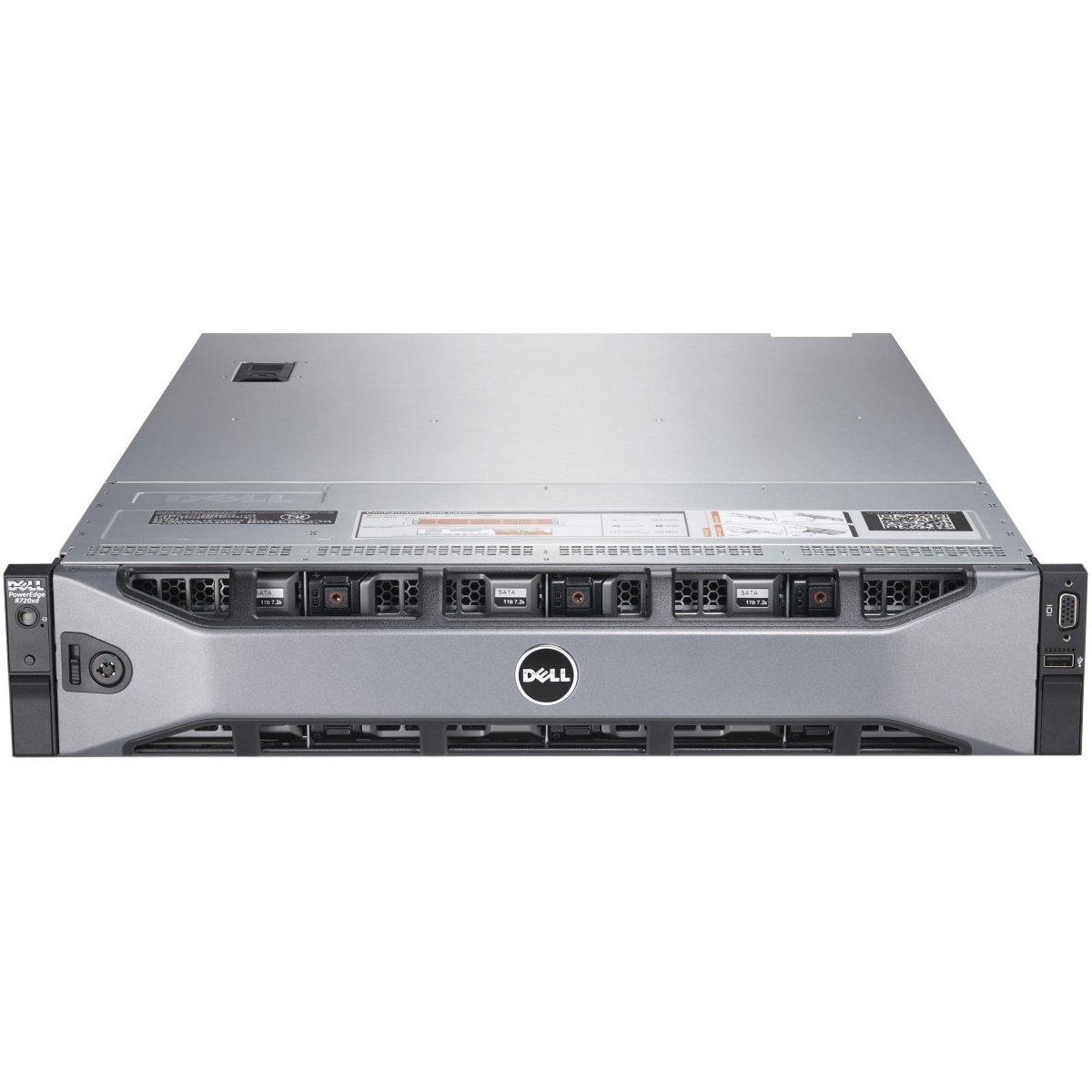 Dell PowerEdge R720 2U Rack Server - 2 x Intel Xeon E5-2670 2.60 GHz - 2 Processor Support - 128 GB Standard/1.50 TB Maximum RAM - 600 GB HDD - Gigabit Ethernet - 462-5608