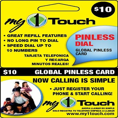 My1touch Prepaid Pinless Dial Calling Card image