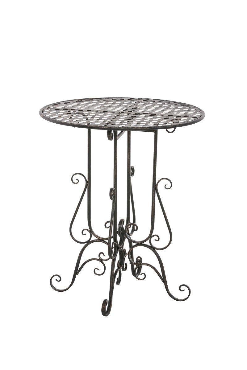 CLP handgefertigter runder Eisentisch MATIN in nostalgischem Design, Durchmesser Ø 60 cm (aus bis zu 6 Farben wählen) bronze bestellen