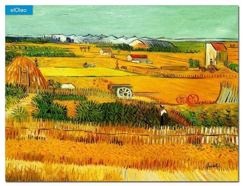 elOleo Vincent van Gogh – Erntelandschaft 90×120 Gemälde auf Leinwand handgemalt 83552A günstig online kaufen
