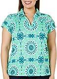 Caribbean Joe Plus Sundial Print Polo Shirt