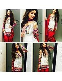 White World Womens Fabric Cotton Salwar Suit ( 214_White_Freesize )