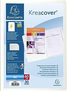 Exacompta kreacover 58309e porte vues rigide rigide a4 for Porte vue 60 vues amazon
