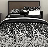 Bamboo Bed in a Bag in Black White Size: King
