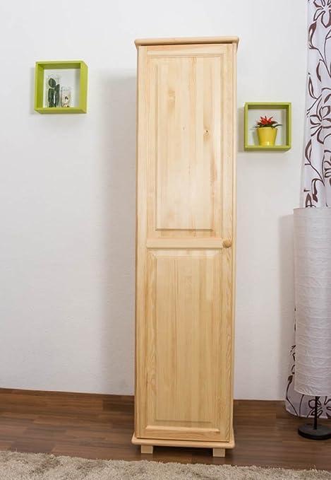 Wardrobe solid natural pine wood 003 - Dimensions 190 x 47 x 60 cm (H x B x T)