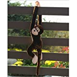 Fiaya Kids Cute Screech Monkey Gibbons Plush Doll Gift Toy (E) (Color: E)