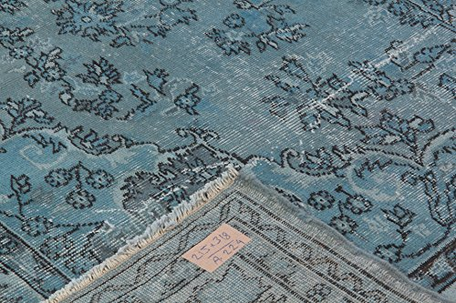 7 X 10.4 Feet Faded Blue Color Overdyed Vintage Turkish Rug