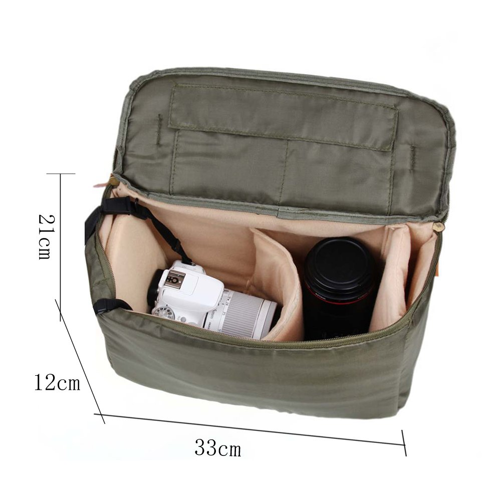 Zebella Casual Waterproof Canvas Shoulder Bag SLR DSLR Camera Case 2