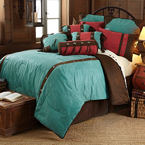 western turquoise and brown cheyenne comforter set super queen