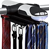 Sterline-Automatic-Motorized-Revolving-Tie-and-Belt-Rack-with-Built-in-LED-Light-Tie-Rack-rotates-forward-and-backward-Holds-72-Ties-and-8-Belts-Batteries-are-included