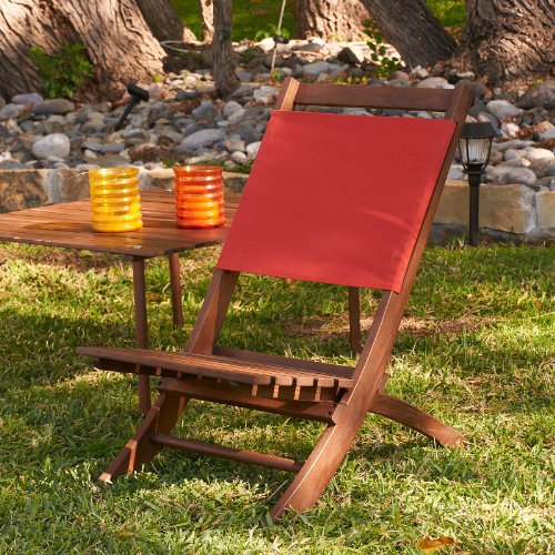 Home Garden Sale Top SEI Folding Picnic Chair With Red Canvas Best D
