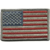Tactical USA Flag Patch - Subdued Silver USA by Gadsden and Culpeper