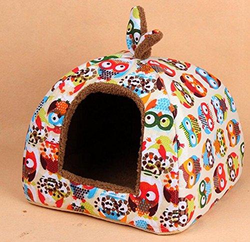 komia owl kuschelh hle f r gro e katzen und kleine hunde geeignet indoor hundehaus warmer h hlenbett. Black Bedroom Furniture Sets. Home Design Ideas
