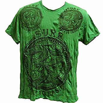 Men 39 s tibetan sure om emerald green yoga clothing crinkled Emerald green mens dress shirt