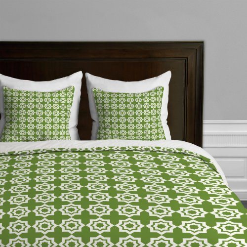 Deny Designs Khristian A Howell Moroccan Mirage Green Duvet Cover, Queen front-952155