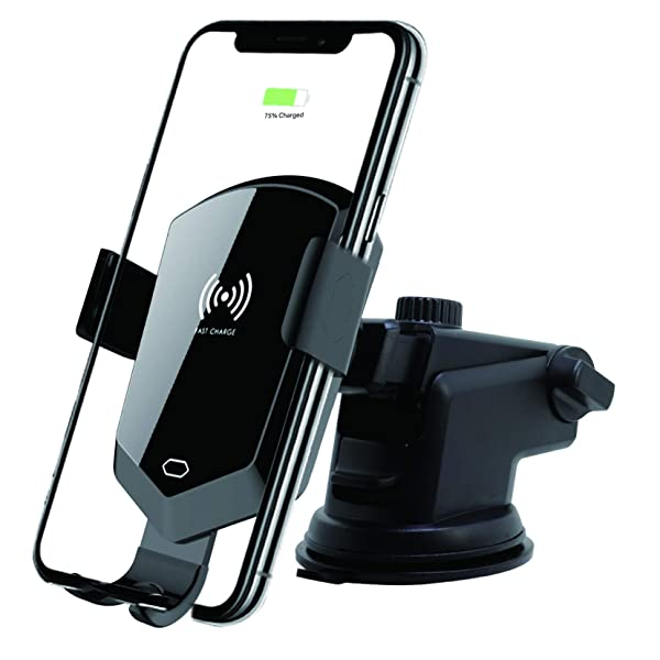 Automatic Clamping Wireless Car Charger Mount,Qi 10W/7.5W Fast Charging Holder Compatible iPhone 11/11 Pro/11 Pro/Xs/Xs Max/XR/X/ 8/8 Plus,Galaxy S11