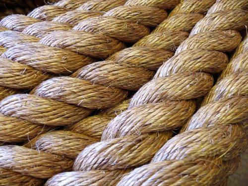 MANILA NATURAL ROPE (28mm) Decking, Garden, Boating, Tug of war, Climbing rope. PRICE IS PER METRE
