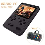 MAYLUCK Mini Handheld Game Console Built-in 168 Retro Games 3 Inch Classic Game Player + Extra controller Support TV OUT