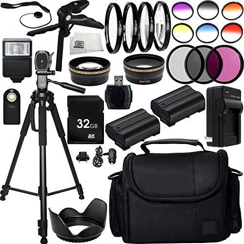 Ultimate 52mm Lens 28PC Accessory Kit for Nikon D750 D7200 D7100 D7000 D810 D810A D800 D800E D610 D600 1V Cameras Includes Wide Angle & Telephoto Lenses + 3PC Filter Kit + 4PC Macro Filter Kit + More!